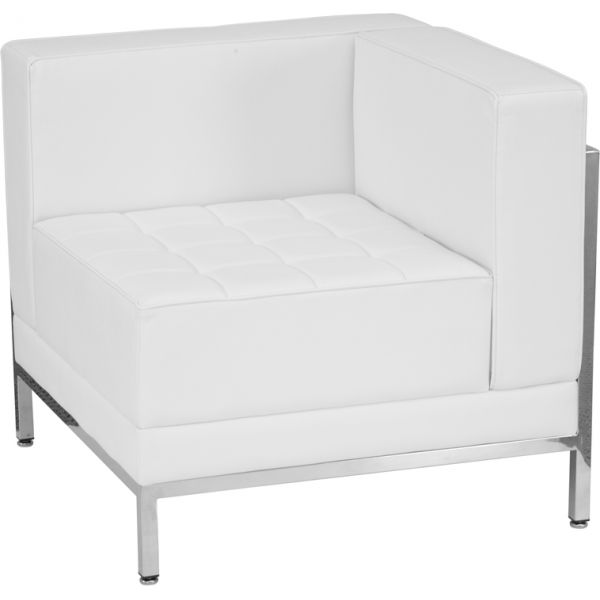 Flash Furniture White Right Corner Chair [ZB-IMAG-RIGHT-CORNER-WH-GG]