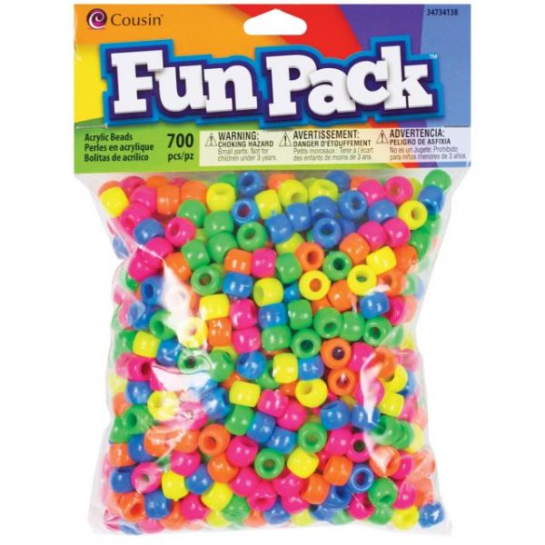 Fun Pack Acrylic Pony Beads