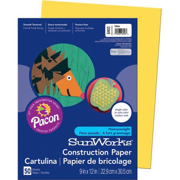 SunWorks Heavyweight Yellow Construction Paper