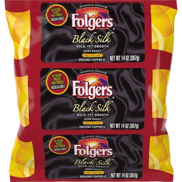 Folgers Coffee Black Silk Filter Packs