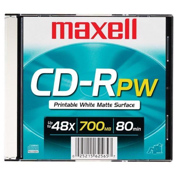 Maxell Recordable CD Media With Case