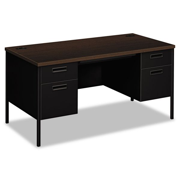 "HON Metro Classic Double Pedestal Desk | 2 Box / 2 File Drawers | 60""W"