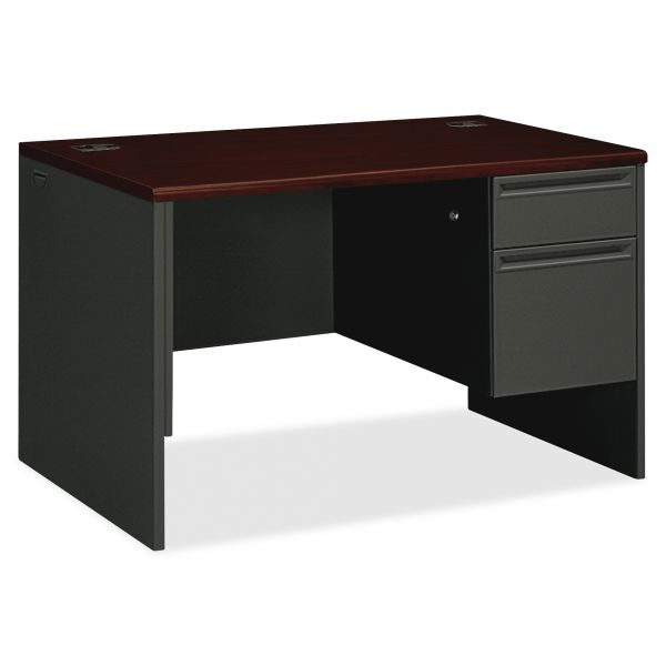 "HON 38000 Series Single Pedestal Desk | 1 Box / 1 File Drawer | 48""W"