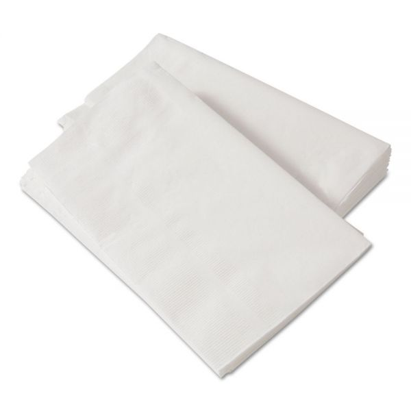 Paper Source Converting 1/8-Fold Dinner Napkins, 2-Ply, 15 x 17, White, 300/Pack, 10 Packs/Carton