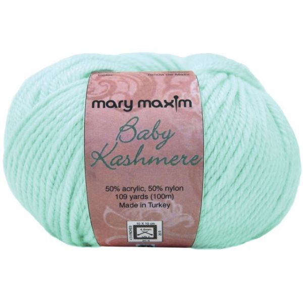 Mary Maxim Baby Kashmere Yarn - Hint Of Mint