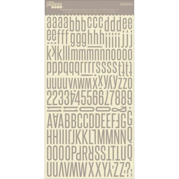 """Alphabeans Large Cardstock Stickers 7""""X12"""""""