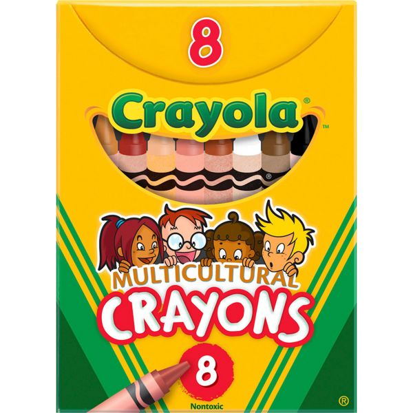 Crayola Large Regular Multicultural Crayons