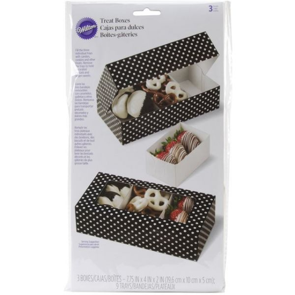 Candy Melt Divided Treat Box W/3 Trays 3/Pkg
