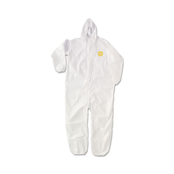 DuPont ProShield NexGen Elastic-Cuff Hooded Coveralls, White, 3X-Large, 25/Carton