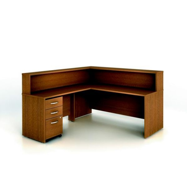 bbf Series C Reception Configuration - Warm Oak finish by Bush Furniture