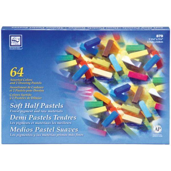 Soft Half Pastels 64/Pkg