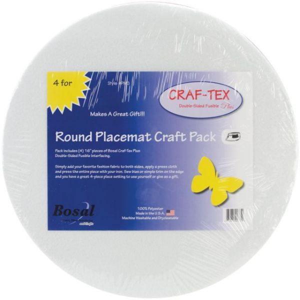 Craf-Tex Round Place Mat Craft Pack