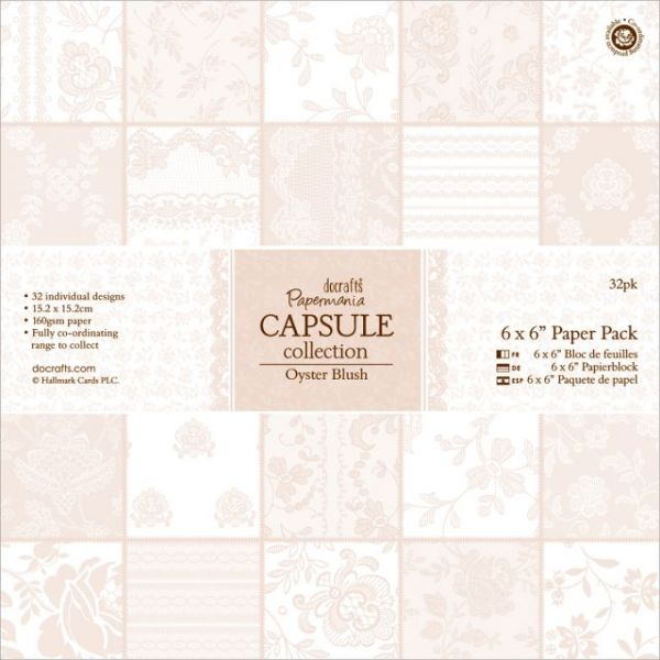 Papermania Oyster Blush Paper Pack