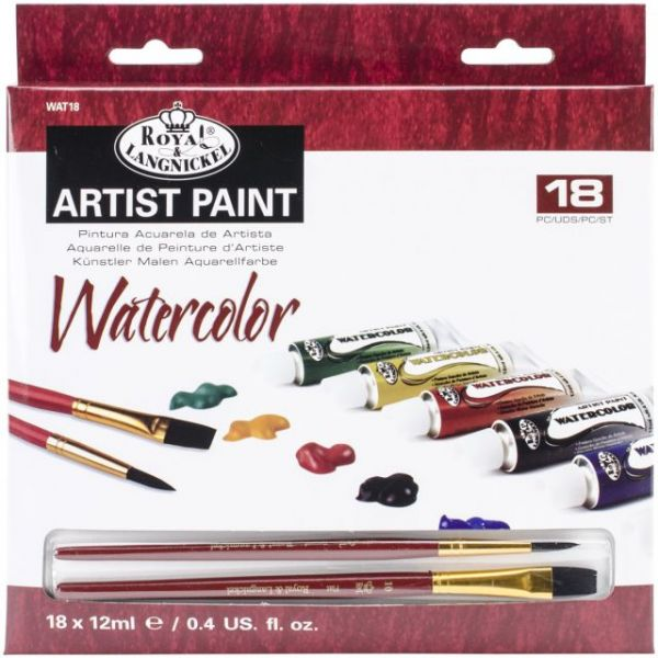 Essentials Watercolor Paints 12ml 18/Pkg