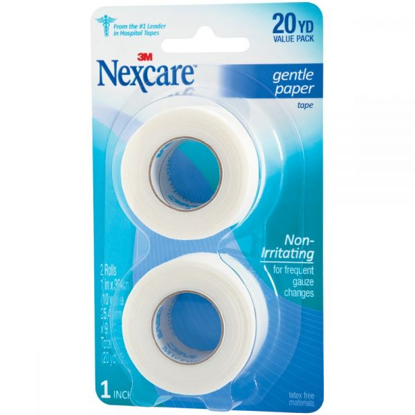 Nexcare Gentle Paper First Aid Tape 2/Pkg