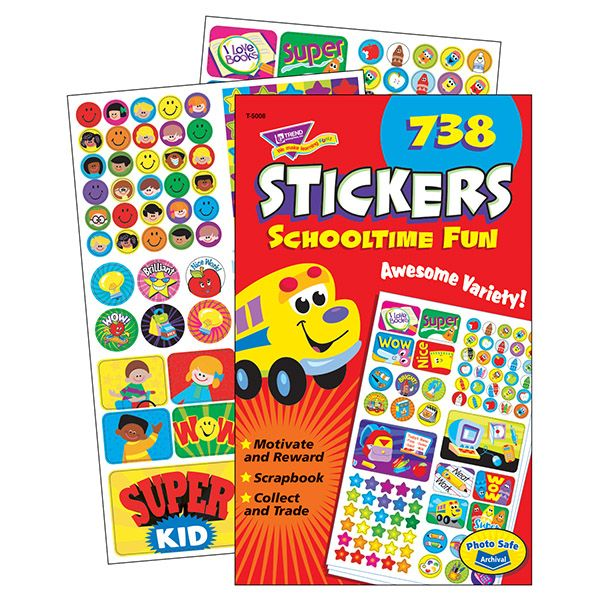 Trend Schooltime Fun Sticker Pads
