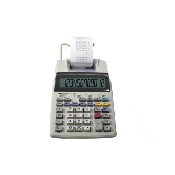 Sharp EL1750V Black & Red Printing Calculator