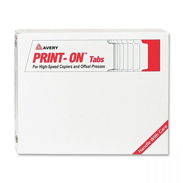Avery Print-On 5-Tab Copier Tabs