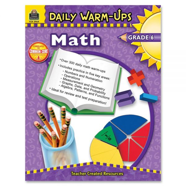 Teacher Created Resources Gr 6 Math Daily Warm-Ups Book Education Printed Book for Mathematics
