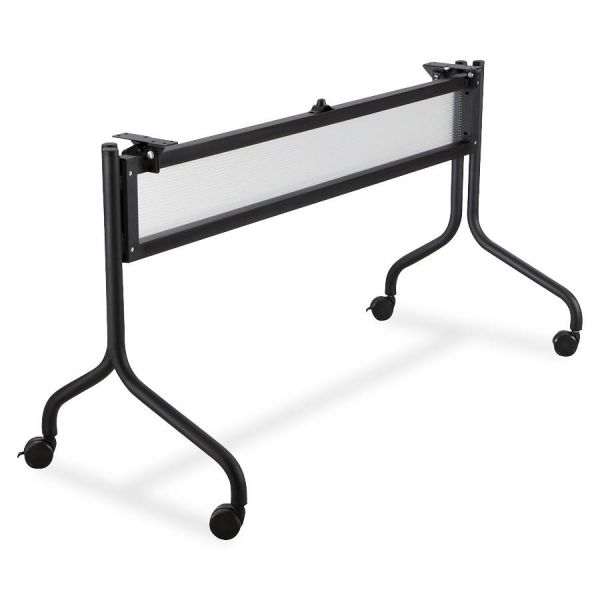 Safco Impromptu Series Mobile Training Table Base, 49-1/2w x 24d x 28h, Black