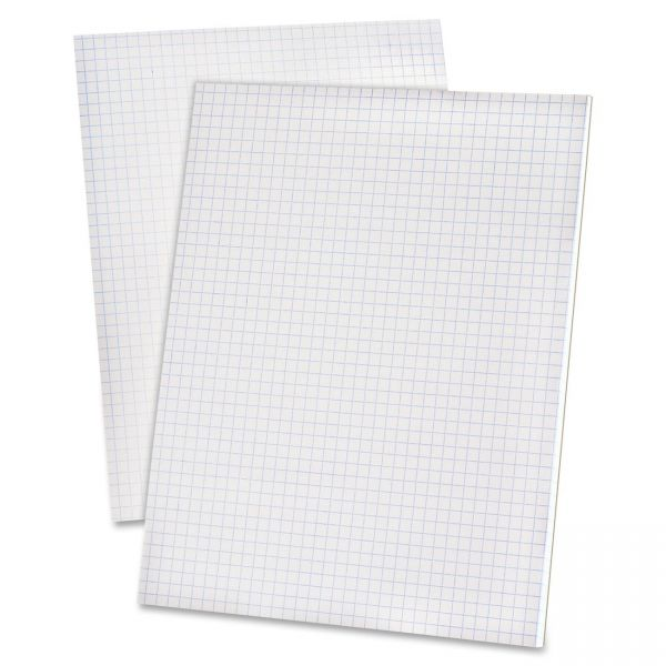 Ampad 20lb Quadrille Pad with 5 Squares/Inch, Ltr, White, 1 50-Sheet Pad