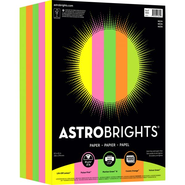 "Astrobrights Color Paper - ""Neon"" 5-Color Assortment"
