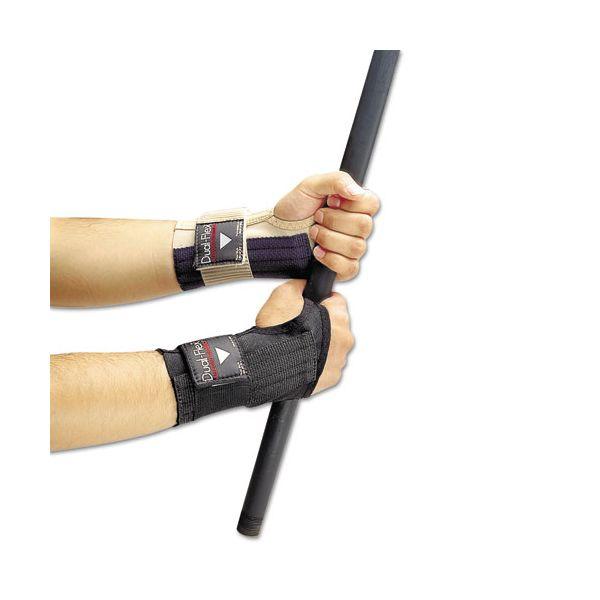 Allegro Dual-Flex Wrist Supports, X-Large, Nylon, Black