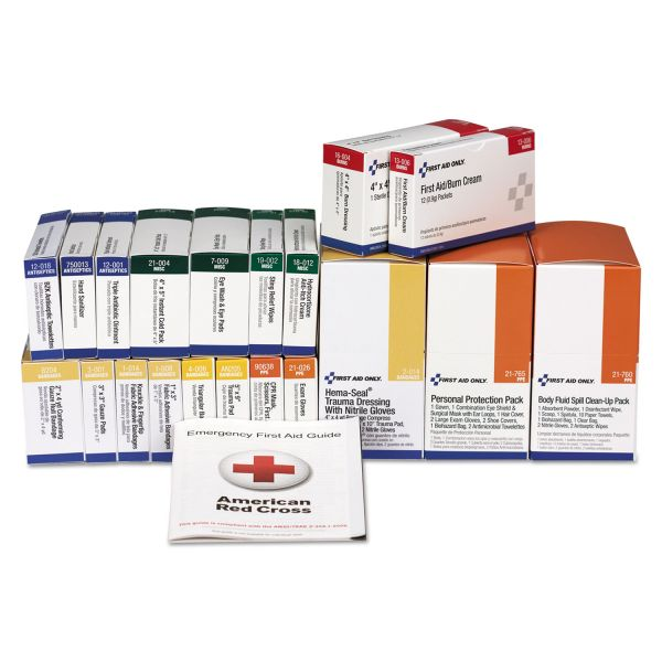 First Aid Only 36 Unit ANSI Class A+ with BBP Refill, 36 Pieces