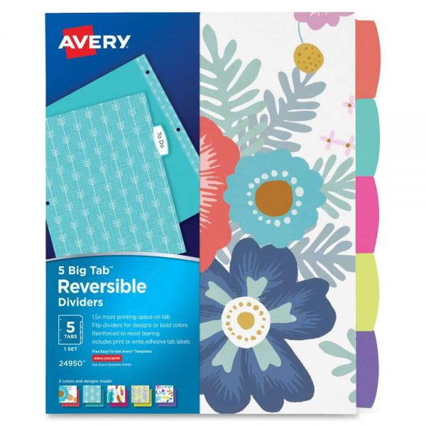Avery Big Tab Reversible Fashion Dividers