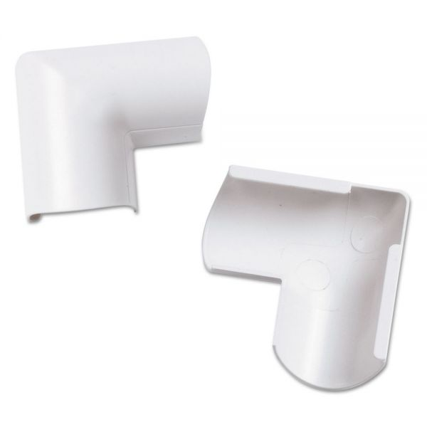 D-Line Clip-Over Door Top Bend for Mini Cord Cover, White, 2 per Pack