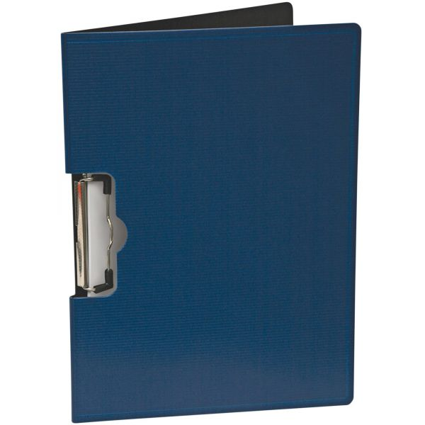 """Mobile OPS Portfolio Clipboard With Low-Profile Clip, 1/2"""" Capacity, 11 x 8 1/2, Blue"""