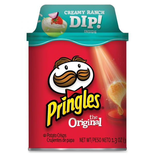 Pringles Potato Chips With Ranch Dip