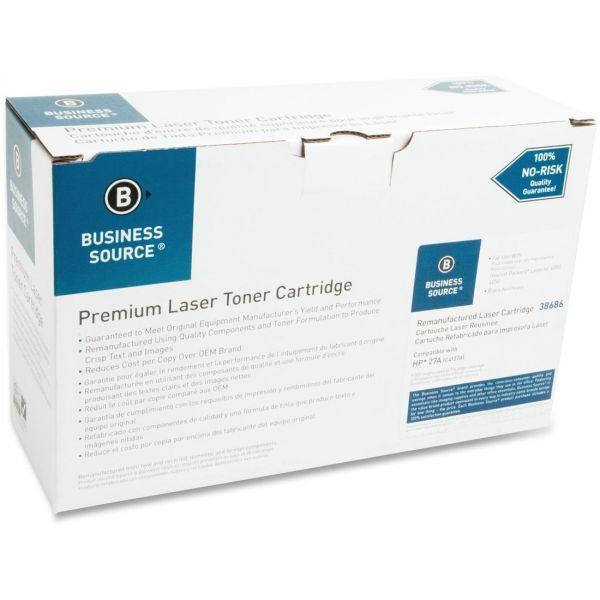 Business Source Remanufactured HP 27A (C4127A) Toner Cartridge