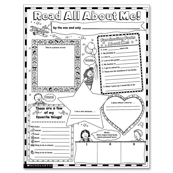 Scholastic Instant Read All About Me Personal Poster Sets
