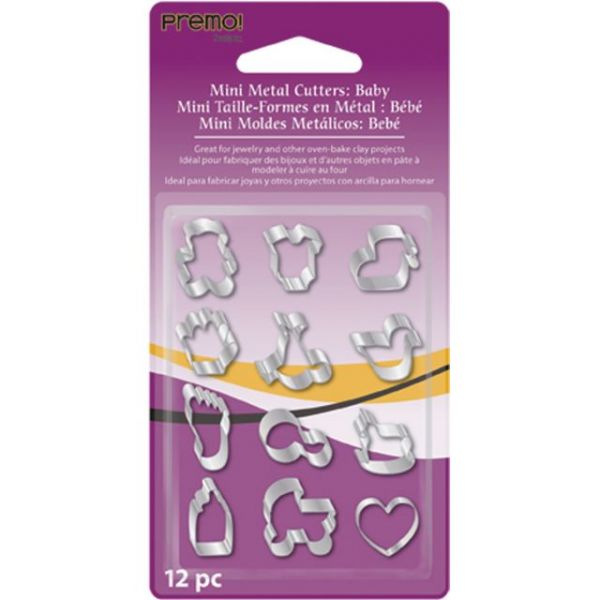 Premo Sculpey Mini Metal Cutters 12/Pkg