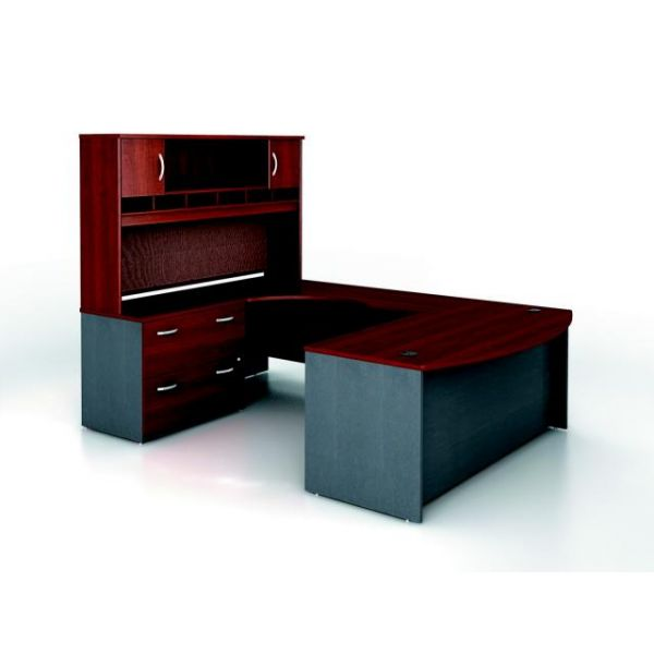 Bush Furniture Series C Executive Configuration - Hansen Cherry finish