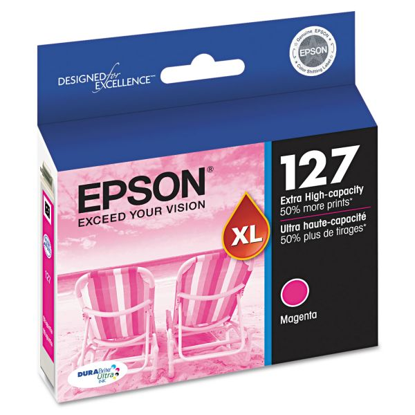 Epson High-Yield 127 XL Magenta Ink Cartridge (T127320)