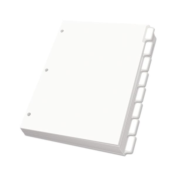 Oxford Custom Label Dividers, Self-Stick Tab Labels, 8-Tab, Letter, White, 25 Sets
