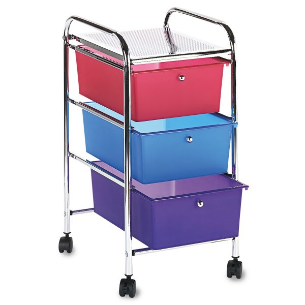 Advantus 3-Drawer Mobile Organizer Cart