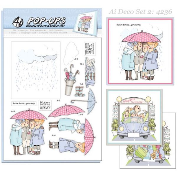 "Art Impressions Pop-Ups 4 Sheets W/2 Designs 8.25""X11.75"""
