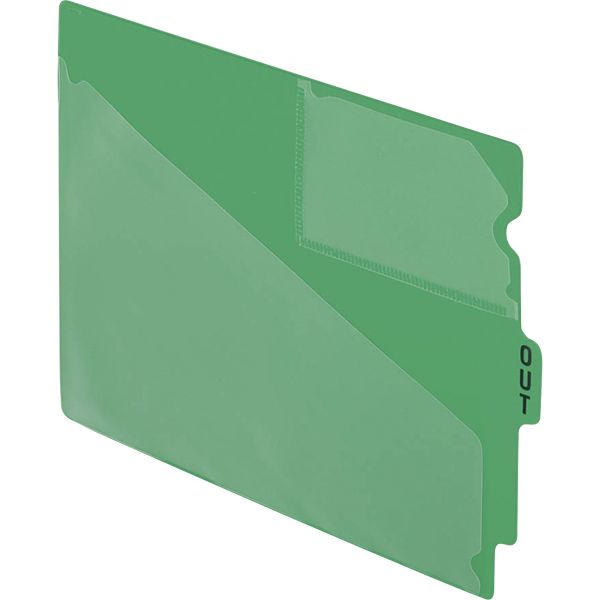 """Pendaflex End Tab Poly Out Guides, Center """"OUT"""" Tab, Letter, Green, 50/Box"""