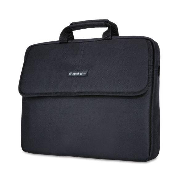 """Kensington 17"""" Laptop Sleeve, Padded Interior, Interior/Exterior Pockets, Black"""