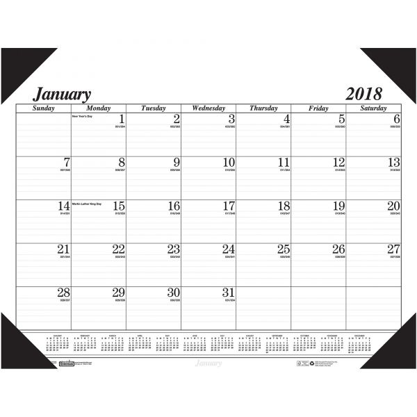 House of Doolittle Monthly Desk Pad Calendar