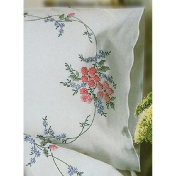 Stamped Pillowcase Pair
