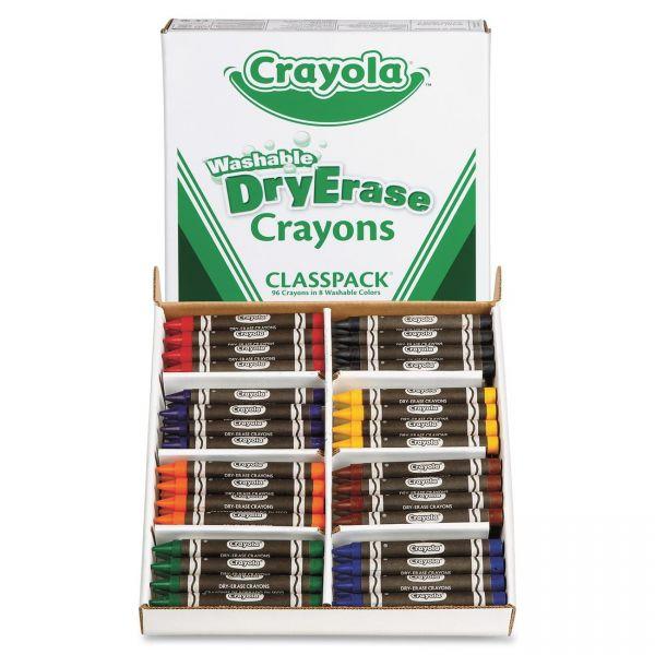 Crayola Washable Dry-Erase Crayons Classpack