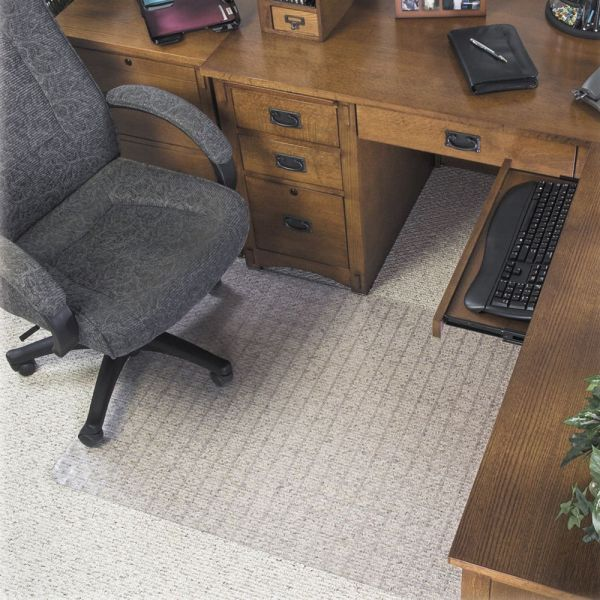Deflect-o SuperMat Medium/Low Pile Checkered Chair Mat
