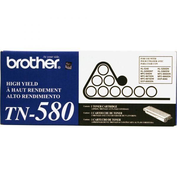 Brother TN580 High-Yield Toner, Black