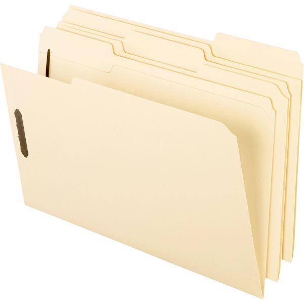 Pendaflex Fastener Folders, 2 Fasteners, 1/3 Cut Tabs, Legal, Manila, 50/Box