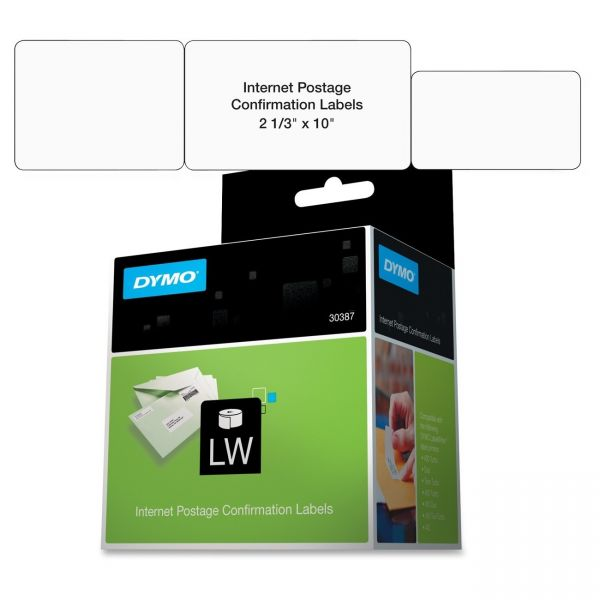 Dymo Internet Postage Confirmation Labels