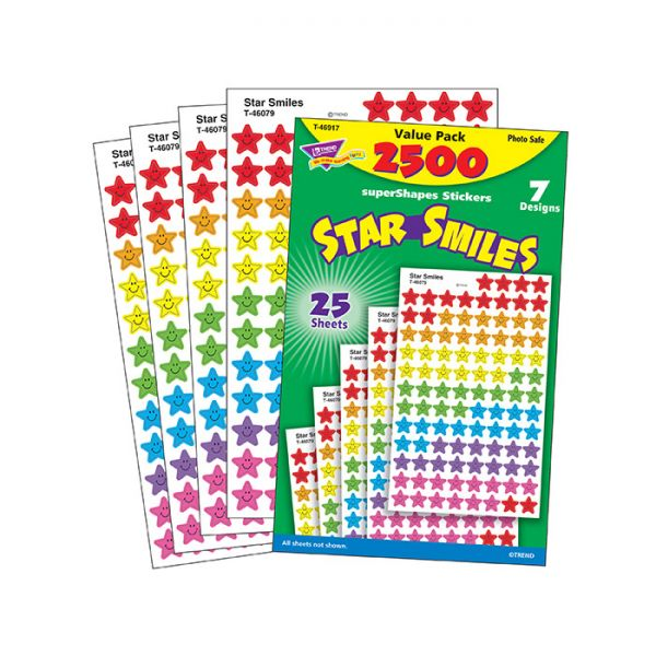 Trend Star Smiles superShapes Stickers Value Pack